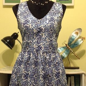 Shades of blue fun dress